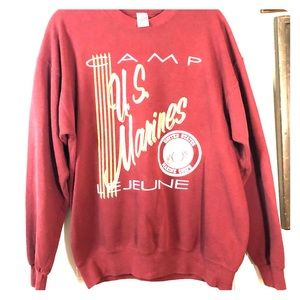 Vintage Marine Corp pull over sweater